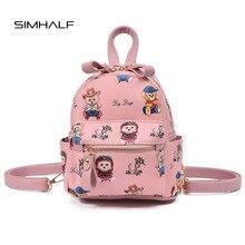 Simhalf новый западный стиль Мода Дети рюкзак Повседневные принты сумки на плечо Mochila медведь значок стильная футболка с изображением персонажей видеоигр небольшие рюкзаки