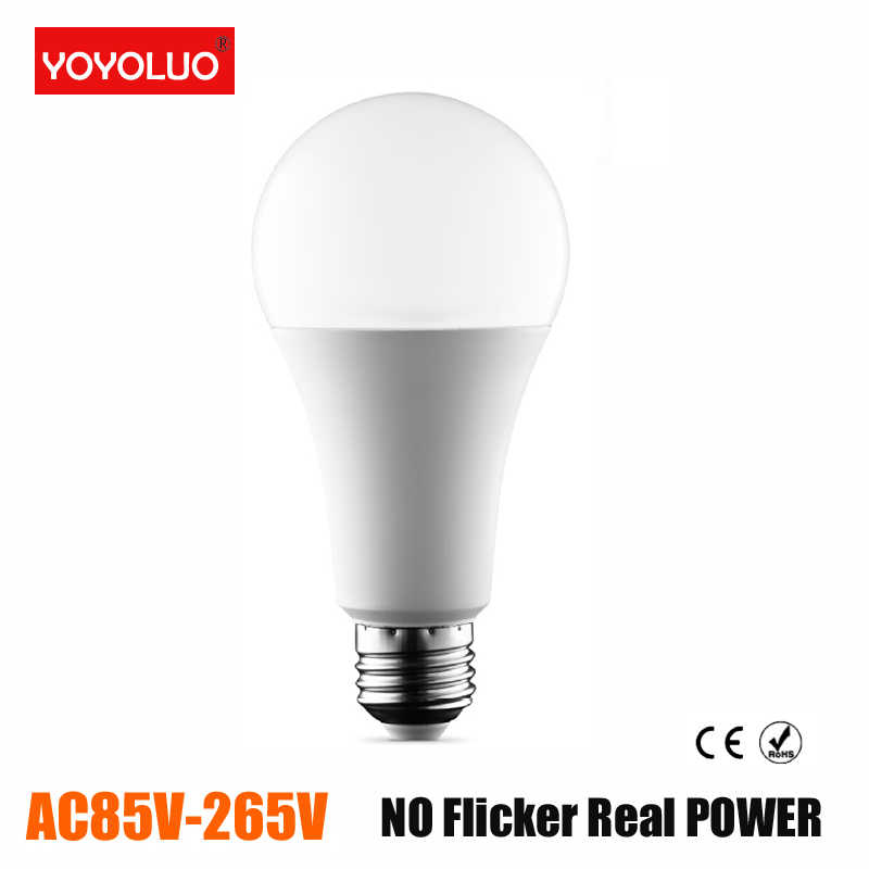 Real power Led Bulbs 220V E27 LED Lamp E27 3W 5W 7W 9W 12W AC110V Cold White/Warm White Lampada Ampoule Bombilla LED Light Bulb