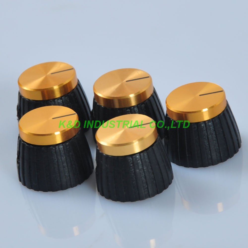 10pcs Fenders Vintage Knob Cap For Marshal Stylel Amp Control Knob W Gold Top 1 4