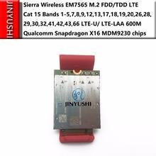 シエラワイヤレス EM7565 100% 新 & オリジナルいいえフェイク M.2 fdd/tdd 4g 5 グラムモジュール LTE U/ LTE LAA 猫 12 バンドクアルコムの snapdragon X16