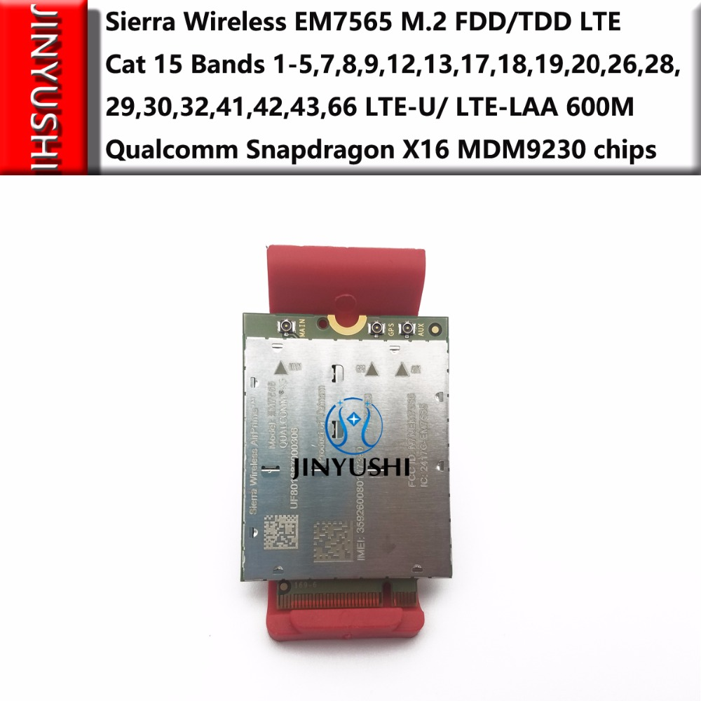Sierra Wireless EM7565 100% New&Original No Fake M.2 FDD/TDD 4G-5G Module LTE-U/ LTE-LAA Cat 12 Bands Qualcomm Snapdragon X16
