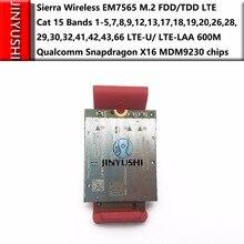 Sierra módulo inalámbrico EM7565 100%, nuevo y Original, sin imitación, M.2 FDD/TDD, 4G 5G, LTE U/ LTE LAA cat, 12 bandas, Qualcomm Snapdragon X16