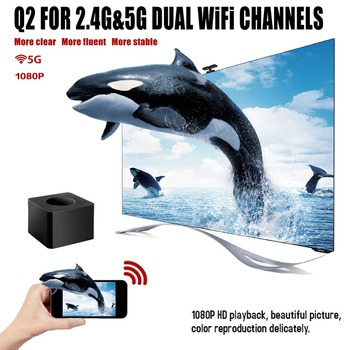 Indoor WiFi Display Dongle Wireless 1080P Screen Mirroring Video Receiver Adapter for Airplay/DLNA/Miracast Black
