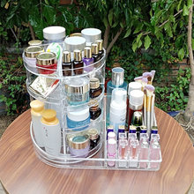 360 Degree Rotating Makeup Organizer Lipstick Cosmetic Nail Polish Rack 3 Layer Make Up Brush Shelf Storage holder Home storage(China)