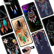 Dreamcatcher Colourful Feathers Black Soft Case for Oneplus 7 Pro 7 6T 6 Silicone TPU Phone Cases Cover Coque Shell
