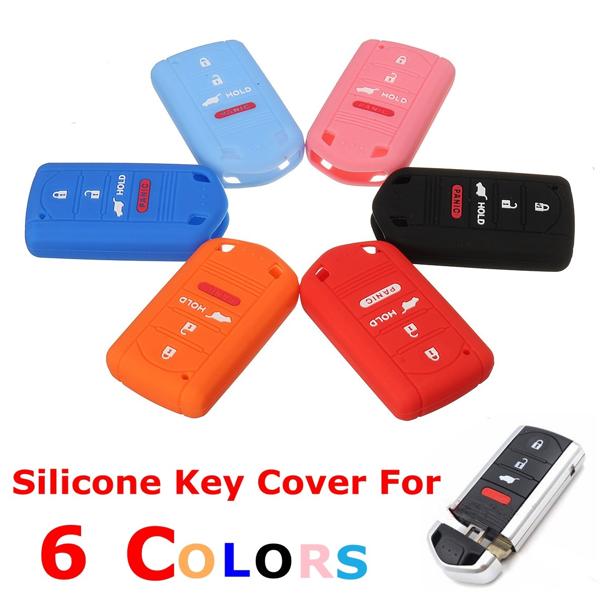 4 Button Silicone Remote Key Fob Case Cover For Acura MDX ZDX RDX TLX TSX TL RL