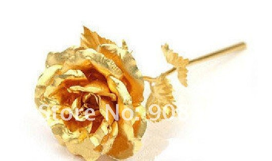 Dropship- 24K gold foil Rose, Golden Flower Gift Set with English Certificate & Exquisite Gift Box festival gift simulation rose soap flowers with gift box