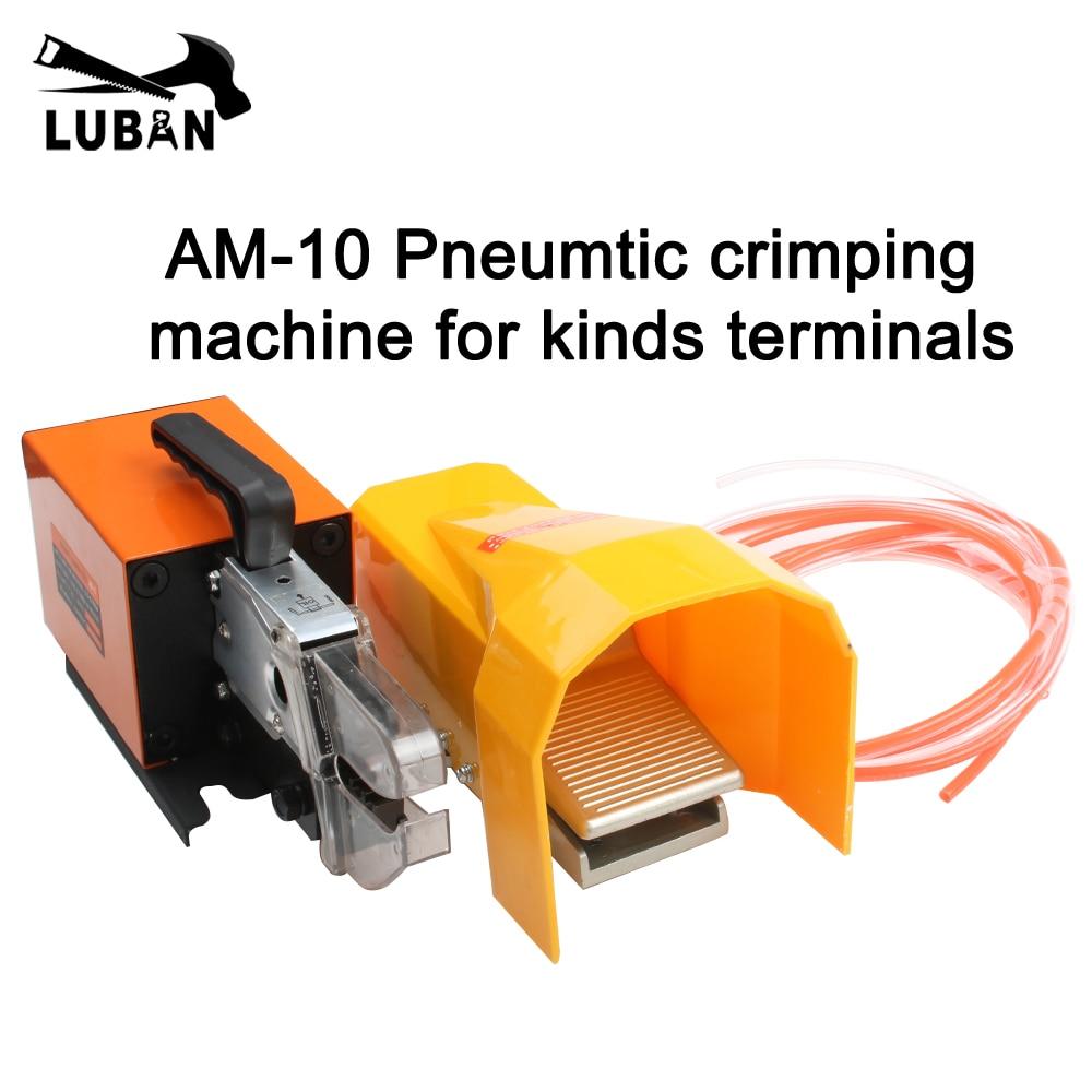 Outils de sertissage pneumatiques AM-10 pour types de bornes avec machine à sertir pneumatique PILER certification CE
