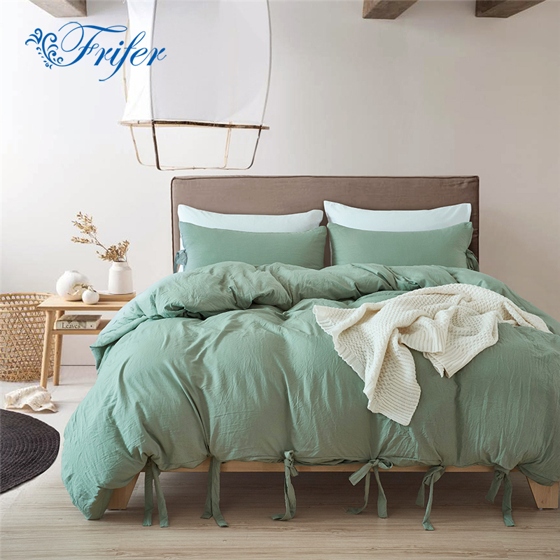 Quality Macarons Green Bedding Set Bed Sheet Pillowcase And Duvet Cover Sets Bed Deisiner With Pillow Cases Twin/Queen/King