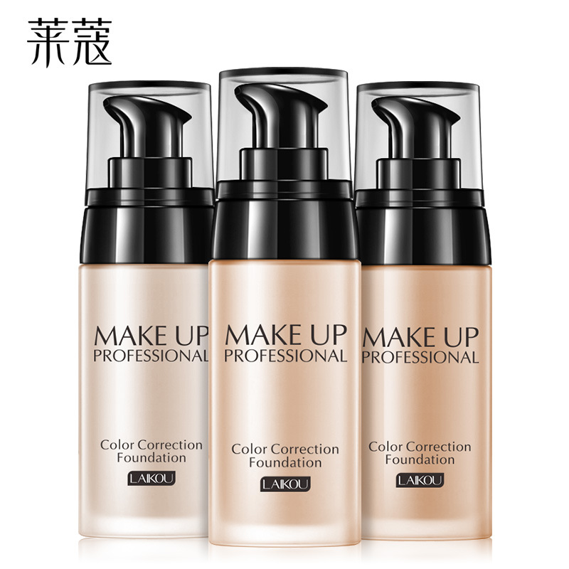 LAIKOU Foundation Makeup Base Face Cream Liquid Foundation Concealer Whitening Moisturizer Oil control Waterproof Maquiagem 40g henlics organic plant essential oil cc cream face makeup liquid foundation concealer with moisturizer oil control function