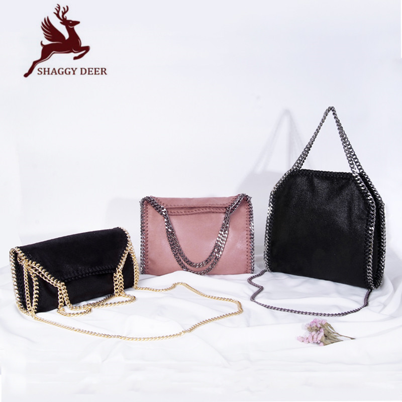 2017 SHAGGY DEER Star Fashion Chain Bag European Luxury PVC 3 Chain Crossbody Shoulder Portable Handbag 2017 120cm diy metal purse chain strap handle bag accessories shoulder crossbody bag handbag replacement fashion long chains new