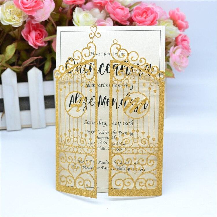 Glitter Gold Laser Cut Personalized Initials Wedding