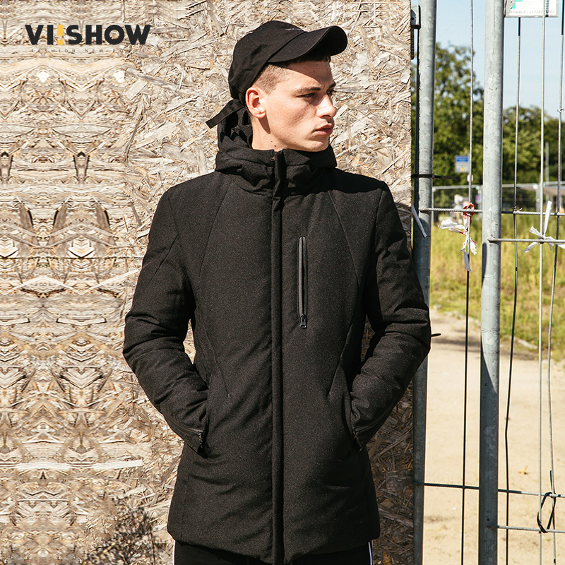 VIISHOW New Winter 80% White Duck Down Coats Men Jacket Quality Handsome Warm Brand Clothing Zipper BOMBER Down Coat YC2533174