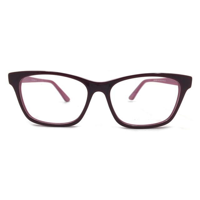 Laura Fada Da Borboleta Forma Armações de Óculos Da Moda Bloco da Cor Das Mulheres Prescrição de Óculos Armação