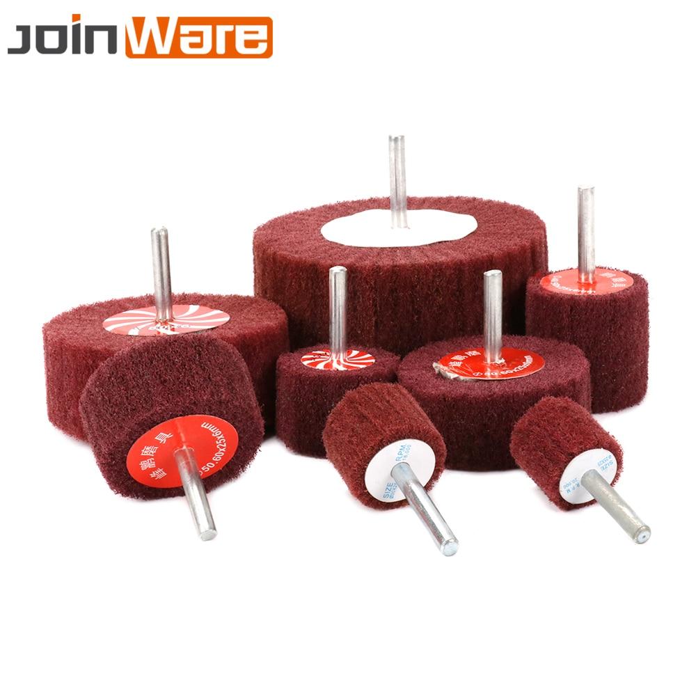 20mm~100mm Non-woven Flap Wheel 6mm Shank Abrasive Polishing Rotary Tools 320#