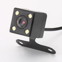 Камера заднего вида 4 светодиодных Лампы для мотоциклов обратный Камера Ночное видение HD НПК заднего вида Камара объектив 2.5 мм Jack с 6 м кабель для автомобильный видеорегистратор зеркало рекордеры