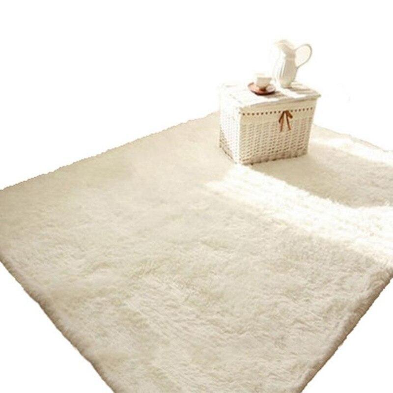 € 5.71 30% de réduction|Tapis blanc rose 15 couleurs tapis de zone  antidérapant pour chambre salon porte tapis de sol (4.5 cm de hauteur)-in  Tapis ...