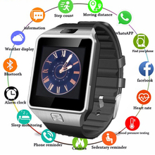 Touch Screen Smart Watch dz09 With Camera Bluetooth WristWatch SIM Card Smartwatch For Ios Android Phones Support Multi language стоимость