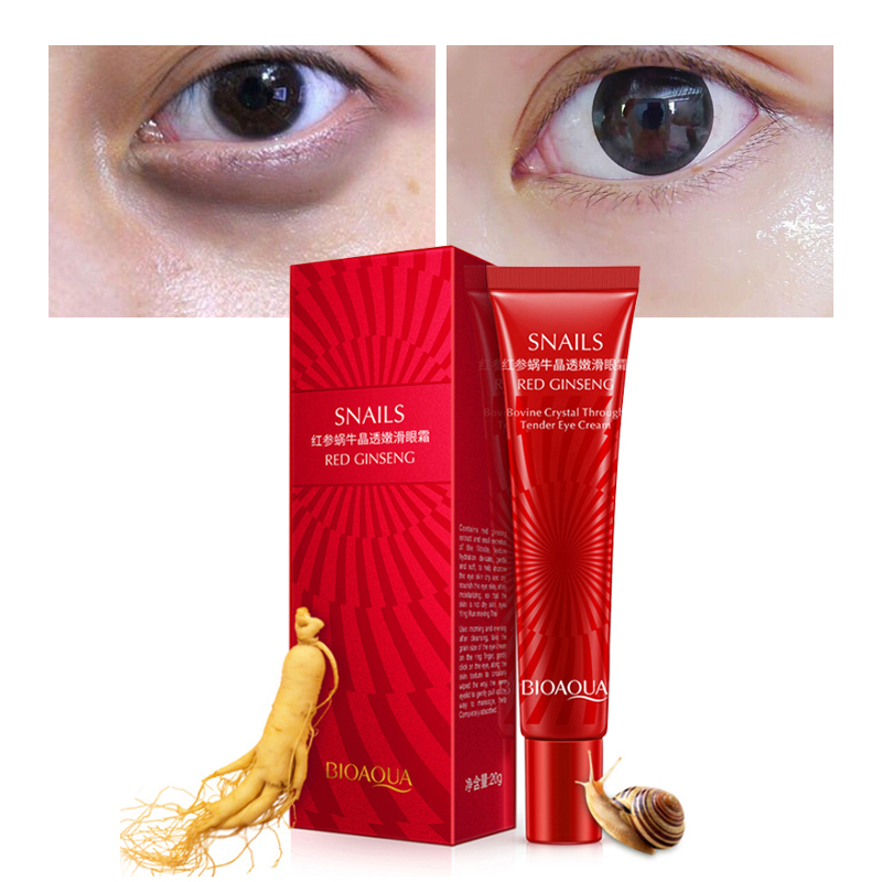 BIOAQUA Brand Snail Essence Eye Cream Moisturizer Instantly Effects Fade Fine Line Makeup gel Remove Dark Circle Lift Skin Care 1