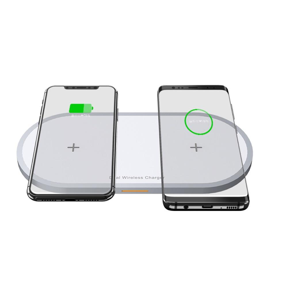 Image 3 - 2 in 1 Mobile Phone & Earphone Wireless Fast Charger Anti slip Wireless Charging Adapter for iPhone AirPods Air Pods-in Mobile Phone Chargers from Cellphones & Telecommunications