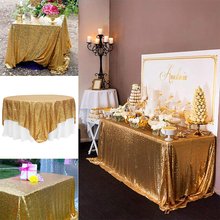 All sizes Shimmer Sparkly Luxury Sequin Tablecloth Wedding Party Decoration table cover slipcovers Tablecloths Christmas