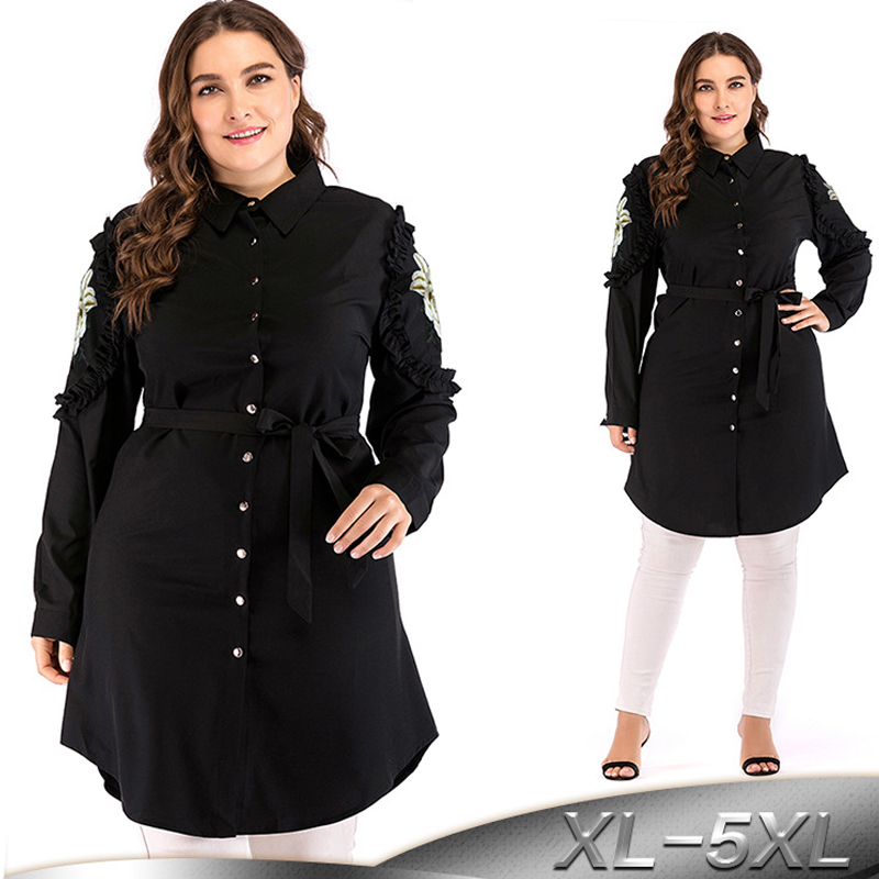 Plus Size Vestidos 2019 Abaya Kaftan Dubai Qatar UAE Women Long Sleeve Arabic Muslim Top Hijab Dress Turkish Islamic Clothing