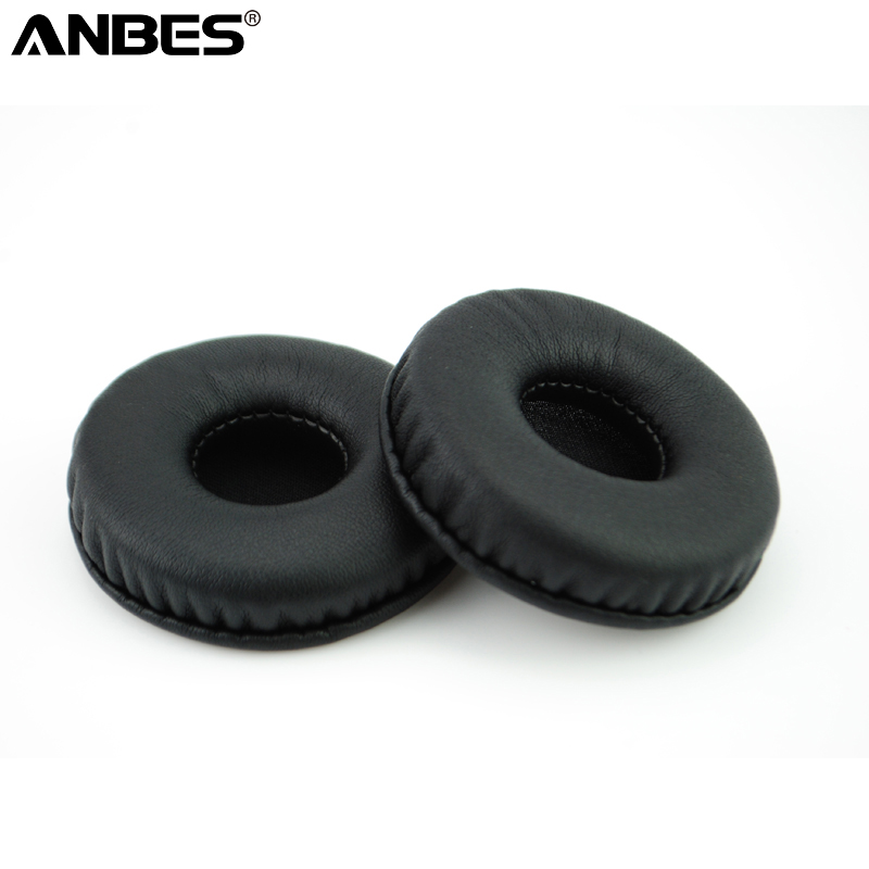 1 Pair Soft Sponge Earpads for Headphones Headset 70mm Black Durable Replacement Ear Cushions Pads Cover High Quality
