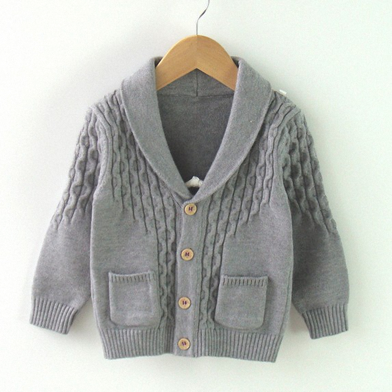 Famous 12M to 3T baby & kids boys shawl collar casual knitted sweater  JO19