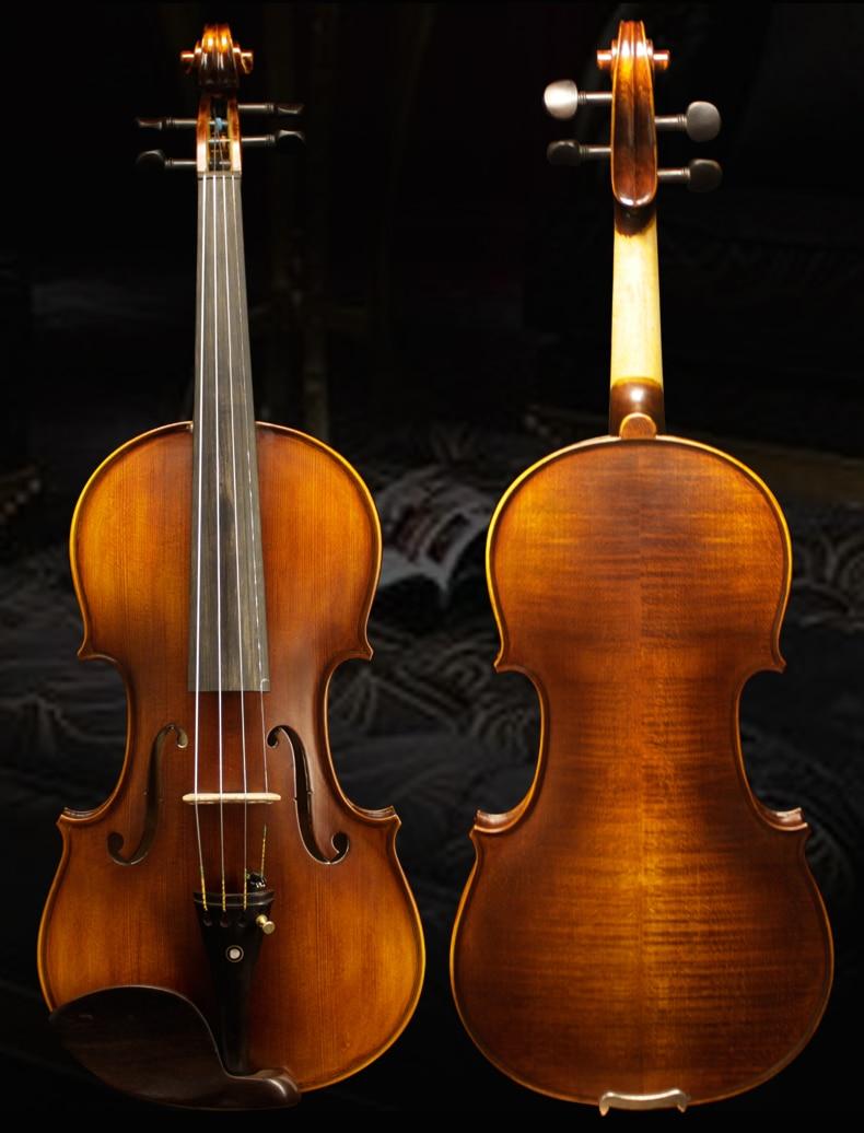 High grade handmade violin 4/4 Brown Solid wood violin Matte Child adult practice Stringed Instruments violin free shipping