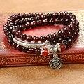 Nuevo estilo de Joyería de Moda Rose Charm 6 MM Granate Natural pulseras y Brazaletes para Las Mujeres y Las Niñas El Mejor Regalo Amigo 40349