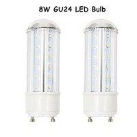 8W LED GU24 Base Light 750 Lumen 360 Degree Beam Angle Tubular LED Light Bulbs With