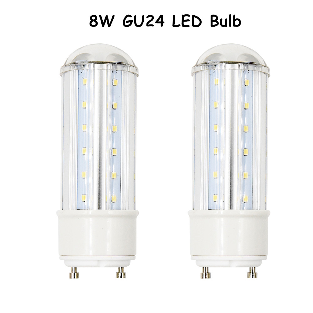 8w Led Gu24 Base Light 750 Lumen 360 Degree Beam Angle Tubular Bulbs With 75w Replacement For Downlights T