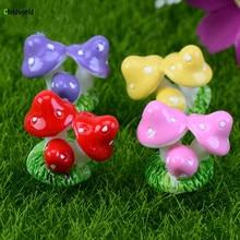 Moss Micro Landscape Furnishing Home Decoration Accessories Resin Mushroom Plexus DIY Assembly Garden Figurines Decor