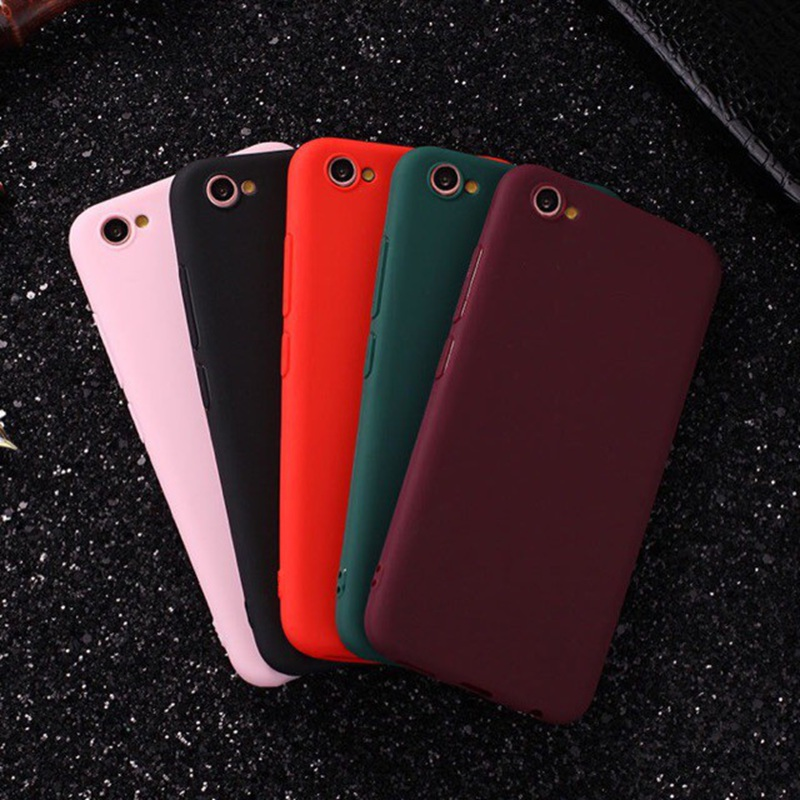 For <font><b>OPPO</b></font> A5S A7 A7X A3S K1 R15X RX17 Neo F9 Pro F1S F1 F3 F5 Plus <font><b>F7</b></font> <font><b>Case</b></font> Candy Color Soft TPU Cover image