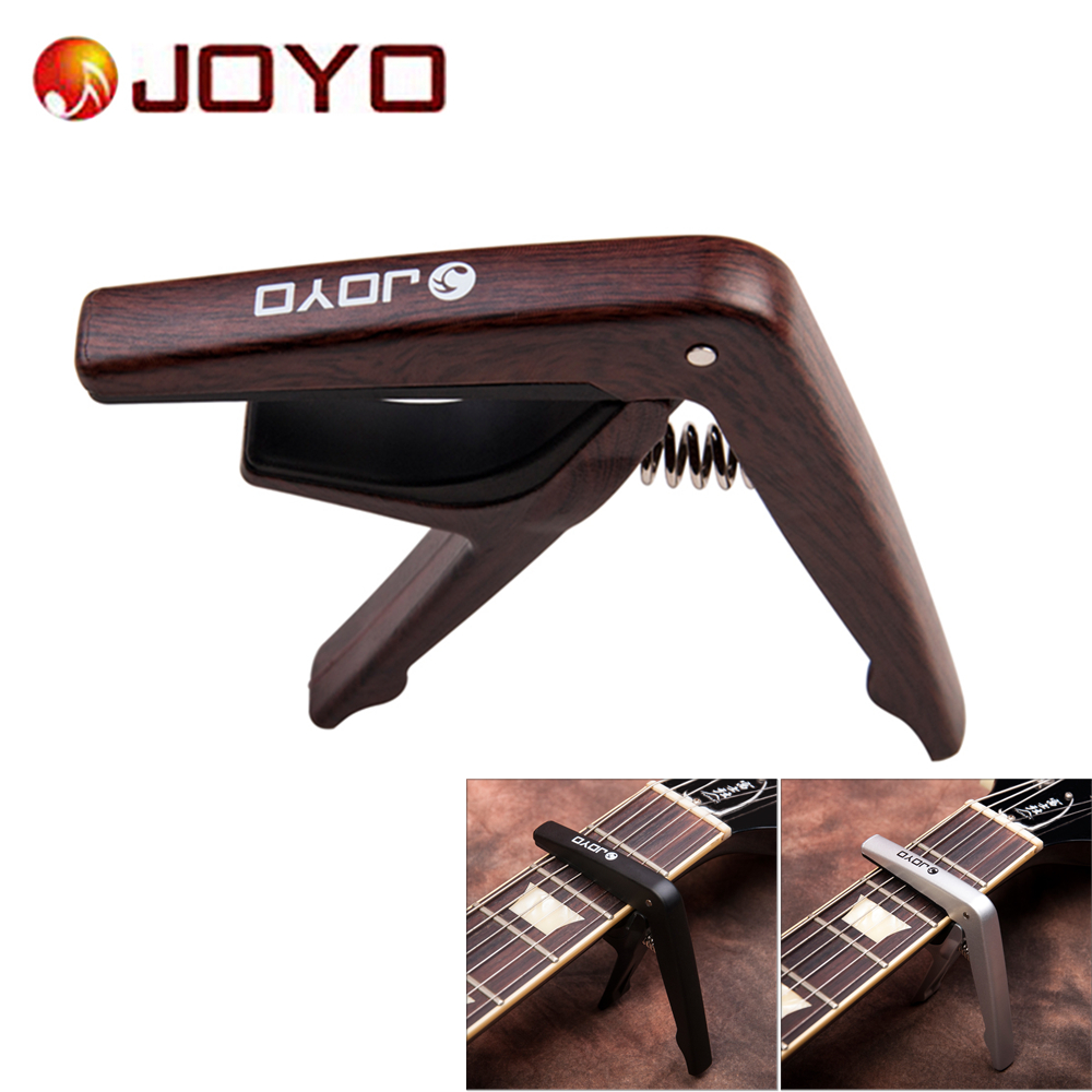 JOYO JCP-01 Plastic Guitar Capo Clamp with Picks for 6 String Guitars Folk Pop Wood Guitar Ukulele Parts & Accessories