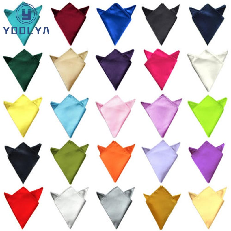 07ef8cafd6957 Best Buy Luxury 36 Colors Hanky Men's Handkerchief Solid Color White Black  Red Pocket Square 22cm Wedding Business Party Chest Towel