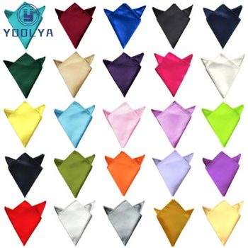 Luxury 36 Colors Hanky Mens Handkerchief Solid Color White Black Red Pocket Square 22cm Wedding Business Party Chest Towel