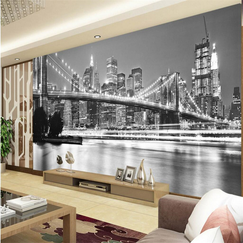 Large mural custom size background photography new york for Custom size wall mural