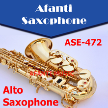 Afanti Music Eb tone / Brass body / Gold finish Alto Saxophone (ASE-472)