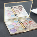 New Brand Makeup 16 colors eye shadow super flash paleta shimmer bright colorful eyeshadow palette with brush makeup  maquiagem
