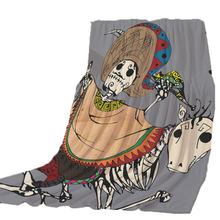 Thicking Blanket for Bed Dancing Skull Happy Halloween BeachTowel For Kids Throws bedsheet Travel