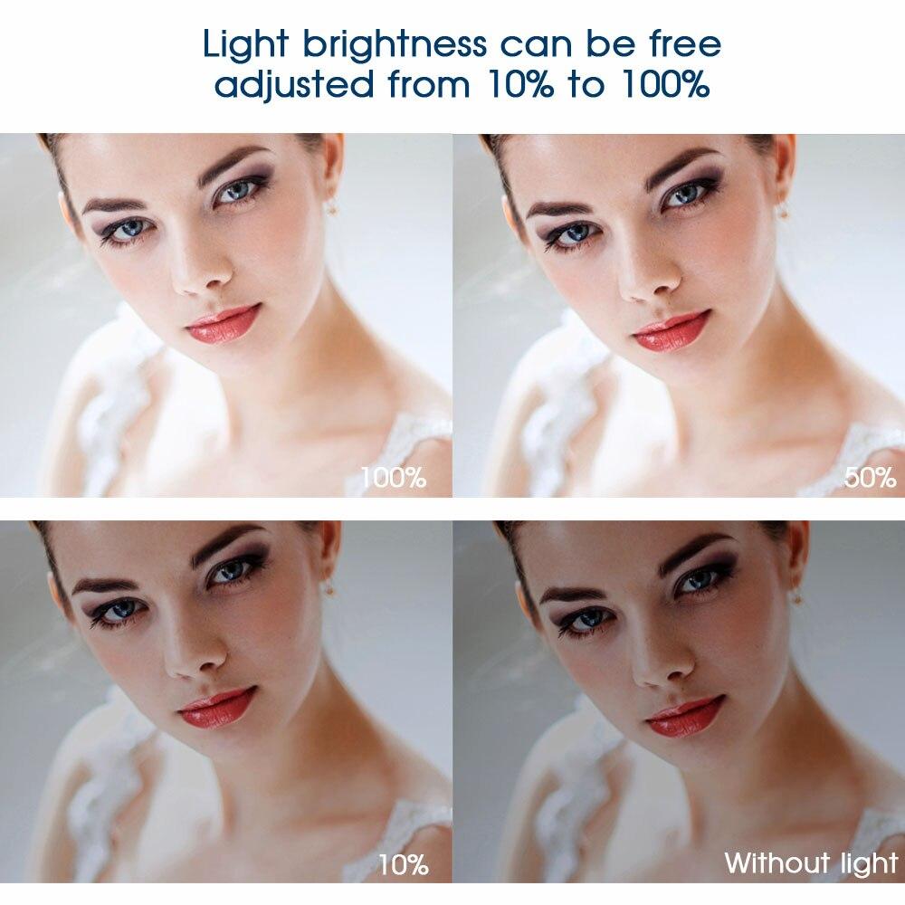 Travor 240 stks Led Video Light met 2 kleurenfilters 3200 K 5500 K IR - Camera en foto - Foto 5