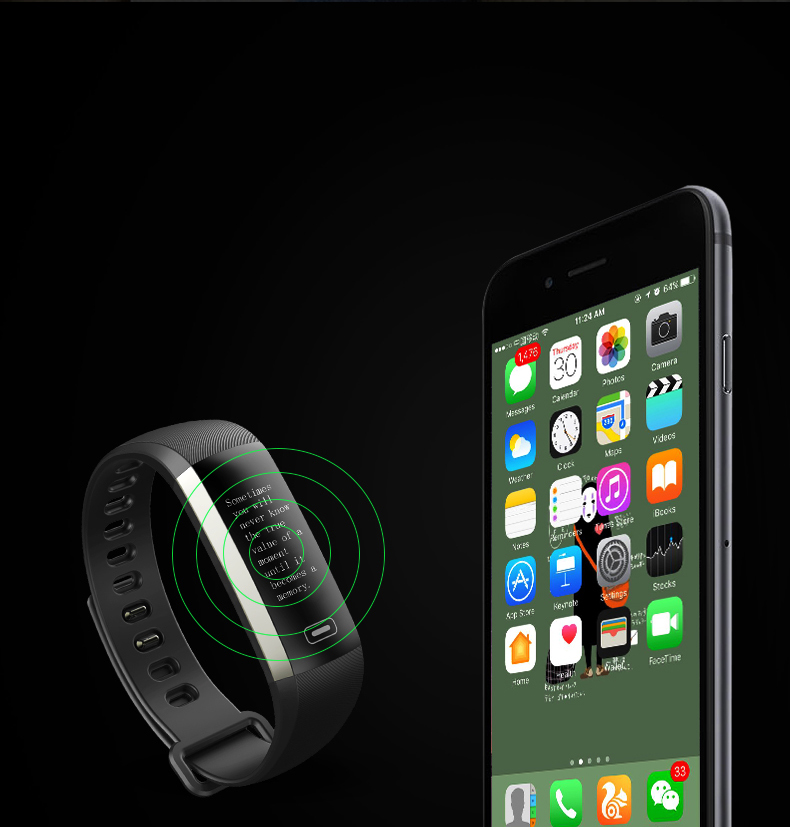 TEZER R5MAX smart Fitness Bracelet Watch intelligent blood pressure heart rate Blood oxygen 50 LETTERS SMS APP Message push 9