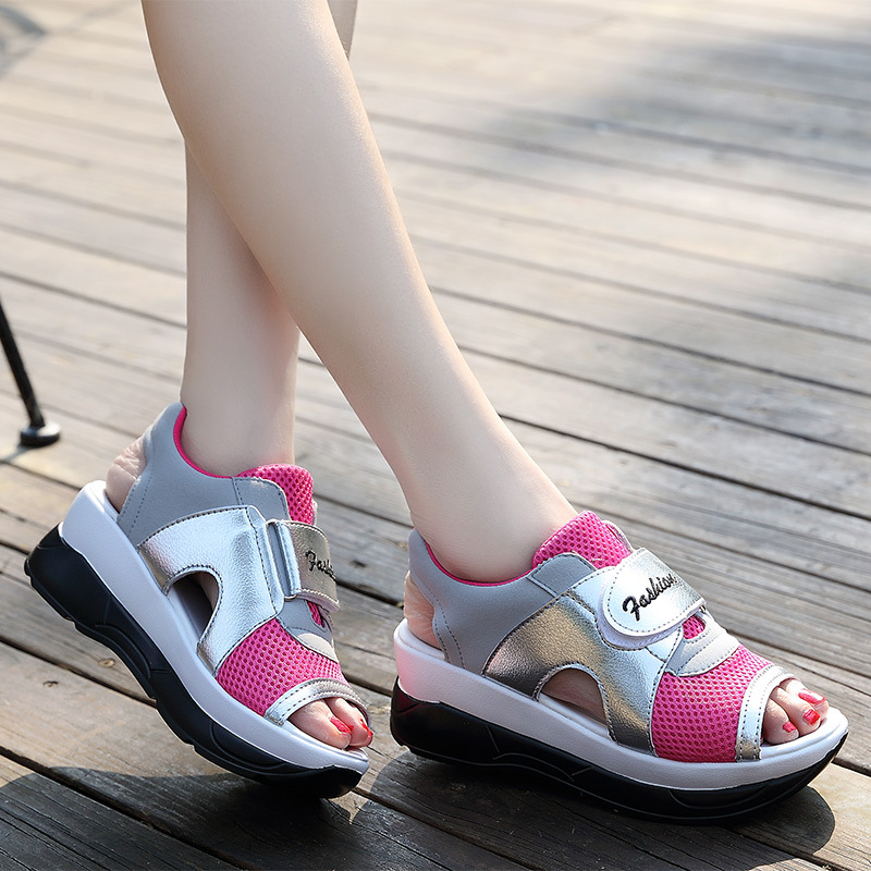 Platform Shoes Sandals Sneakers Breathable Peep-Toe Summer Women Student New Lady Casual