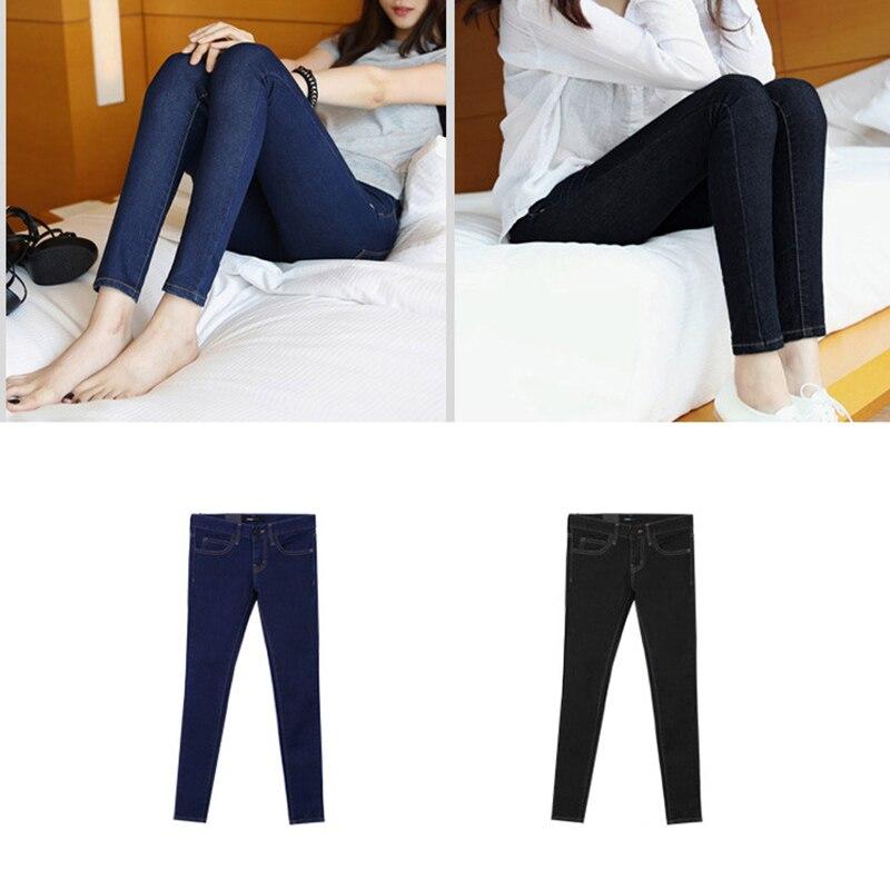 ROSASSY women leggings jeans Thicken fleece lined leggings velvet winter pants elastic stretchy trousers Jeans With Pockets