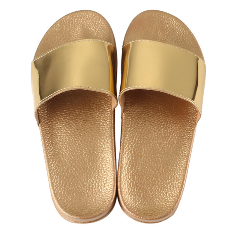 Summer Slippers Bling Women Slides Soft Sole Glitter Indoor & Outdoor Sandals Beach Slides Flip Flops Women Shoes Gold Silver 4