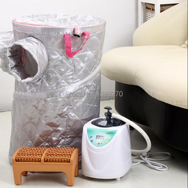 2015 NOVA caixa de pé vapor caixa de sauna a vapor sauna perna quarto uso doméstico pele spa máquina