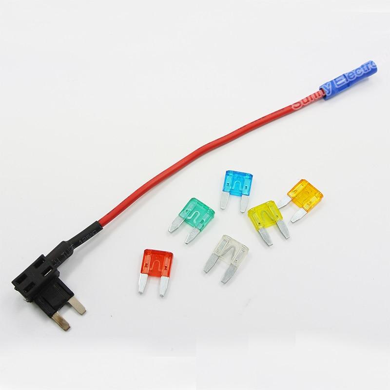 1 X añadir Un Circuito Fusible Tap-Piggy Back Mini Portafusible hoja 12//24 Voltios nuevo!