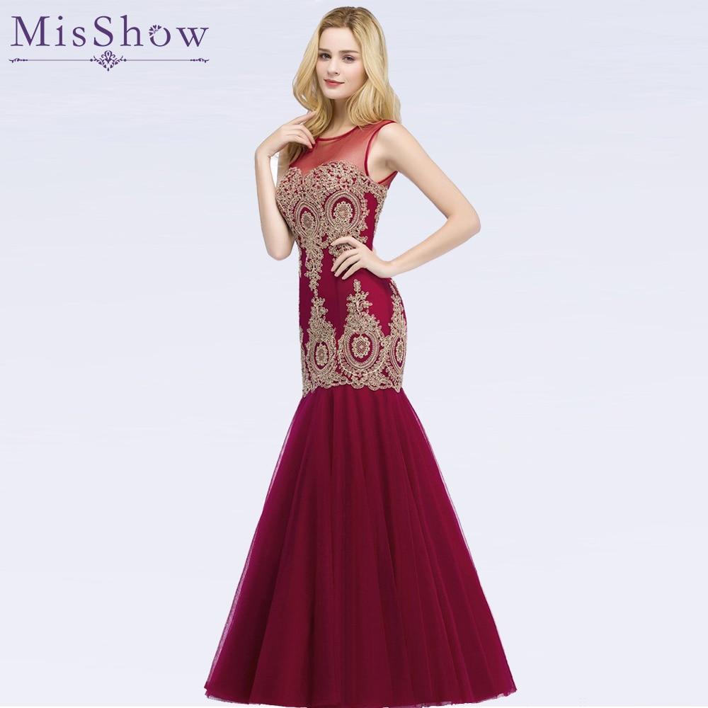 In Stock Evening Dress Long 2019 Applique Party Formal Dress Stunning Tulle Mermaid Prom Dresses Robe De Soiree vestido de festa