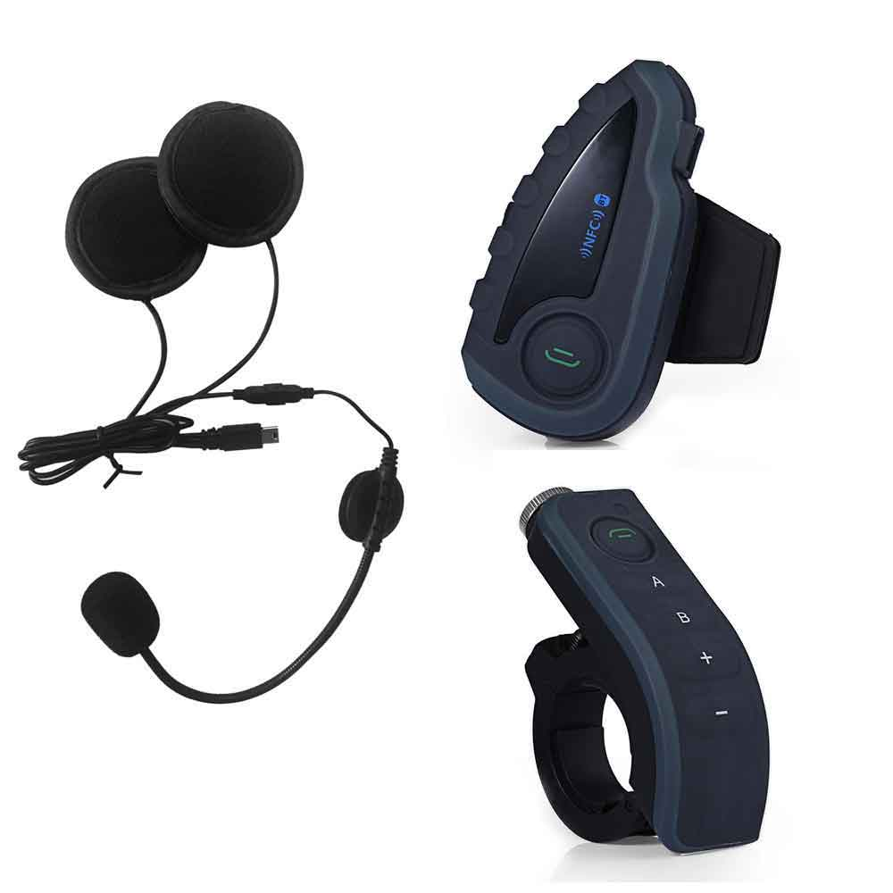 V8 Motorcycle Bluetooth V3.0 Interphone Headsets Kits Wireless 5 Riders Handsfree Headphone with Remote control Helmet Headset